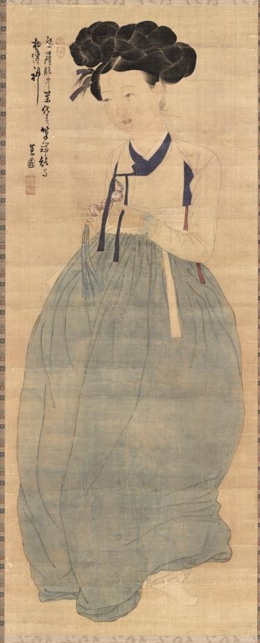 보물 제1973호 '신윤복 필 미인도' (사진제공=문화재청)